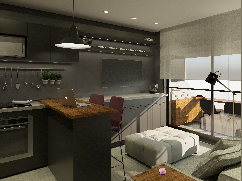 studio apartamento pequeno